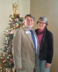 Larry Edwards and his wife, Janis, at the SVLP Holiday Memorial.