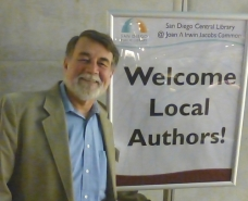 Larry Edwards at San Diego Public Library's 48th Annual Local Author Exhibit.
