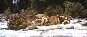 movie How the West Was Won - river flatboats