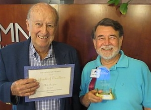 Milt Burgess and Larry Edwards -  San Diego Book Awards .
