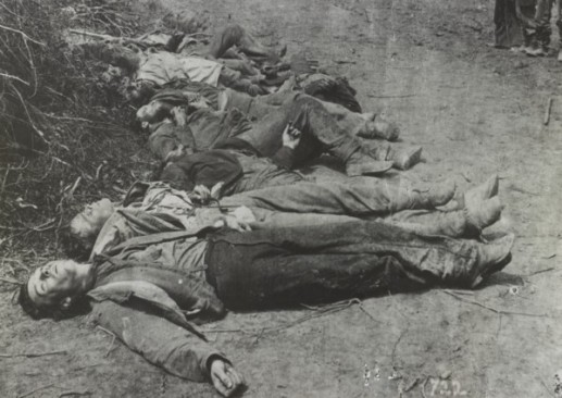 Confederate dead at Spotsylvania.