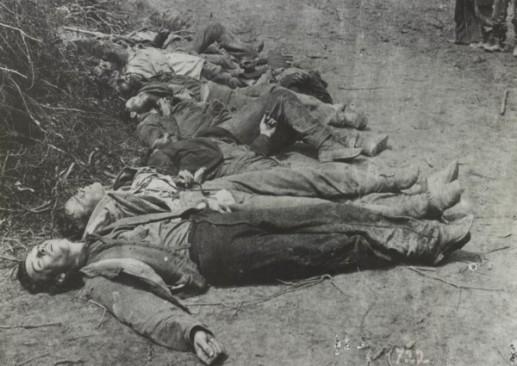 Confederate dead at Spotsylvania.